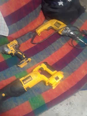 Dewalts impact drill sawsall table saw all 4 items for Sale in Salt Lake City, UT