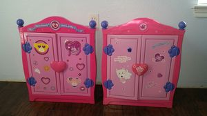 2 Build a Bear Armoire and 5 Stuffed animals for Sale in Austin, TX