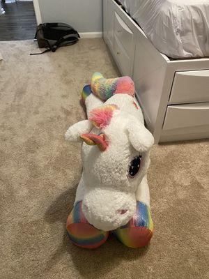 Giant Unicorn Plushie, Fun for children for Sale in Nokesville, VA