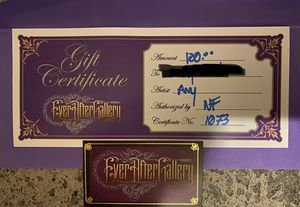 Tattoo Gift certificate for Sale in Spring Hill, FL