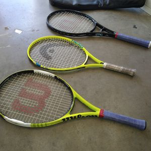 3 Tennis Racket's for Sale in Campbell, CA