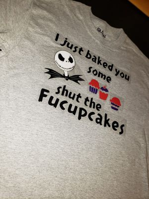 Funny shirt nightmare before Christmas shut the cupcakes shit for Sale in Tacoma, WA