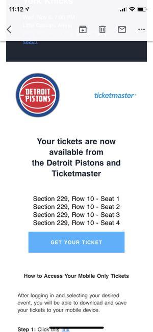 Detroit Piston Basketball tickets for Sale in Detroit, MI