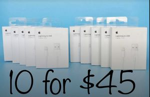 10 Apple Lightning Charger Cords Genuine SHIPPING AVAILABLE for Sale in Carol Stream, IL