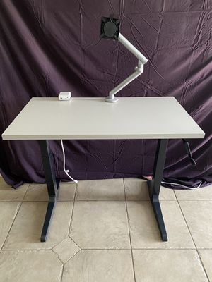 Crank Base Adjustable Table for Sale in Houston, TX