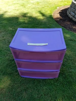 Sterilite 3 drawer storage container for Sale in Federal Way, WA