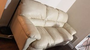Three-seat Leather Sofa for Sale in Riverside, CA