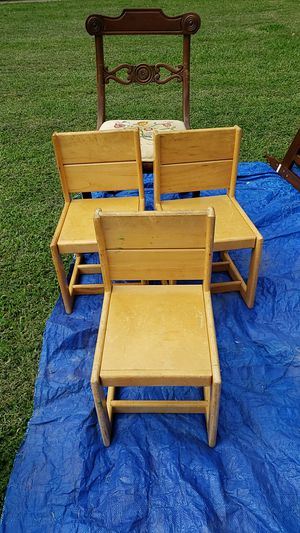 3 wooden kid chairs for Sale in Virginia Beach, VA