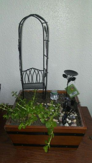 New Fairy Gardening Miniature 5 Piece Set In Black for Sale in Spring Hill, FL