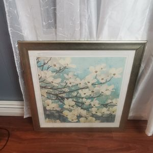 Frame With Photo Of Flowes for Sale in Waterbury, CT