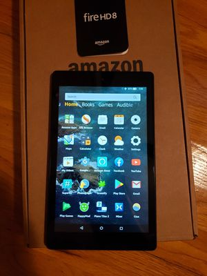Latest Generation Amazon Fire HD 8 with Box, accessories, and case! for Sale in Warren, MI