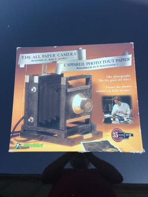 Camera kit. All paper kit by Wrebbit. Great craft project. In original box.Actually works when made for Sale in Tamarac, FL