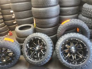 WHEELS 20X12 AND TIRES 33X12.50R20 BRAND NEW 👌 $1590 SET OF FOUR BEST PRICE ON TOWN for Sale in Anaheim, CA