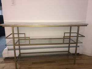 Brand new gold and marble console table for Sale in Denver, CO