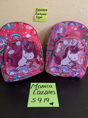 Unicorn backpacks (small) $10 each for Sale in Fort Worth, TX