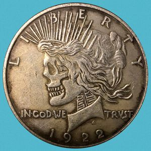 Collectible Peace and Morgan Dollar Double Headed Skull Coin • TIBETAN SILVER for Sale in Yucca Valley, CA