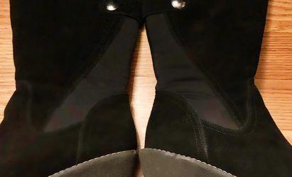 Khombu Black Suede Mid-calf Wedge Boots for Sale in Birmingham,  AL