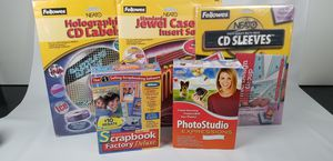 Computer Scrapbooking and Photo studio Software. CD labels lot for Sale in Temple City, CA