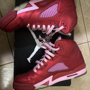 Air Jordan Retro 5 Valentine's Day Sneakers Size 7 for Sale in Miami, FL