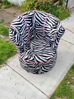 Kids zebra chair for Sale in El Cajon, CA