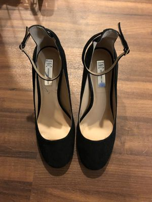 Black suede heels for Sale in Chicago, IL