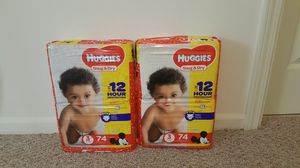 Huggies size 3 for Sale in Lake Angelus, MI