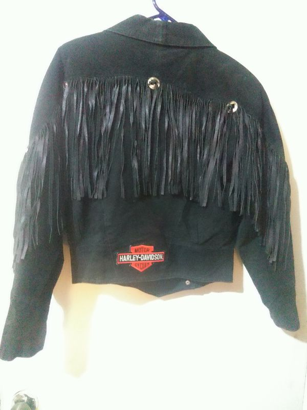 Suede Jacket with Harley Davidson Patches