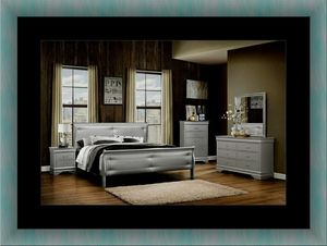 11pc Grey Marley bedroom set with mattress for Sale in Alexandria, VA