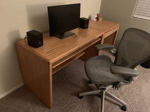 Solid oak desk for Sale in Phoenix, AZ