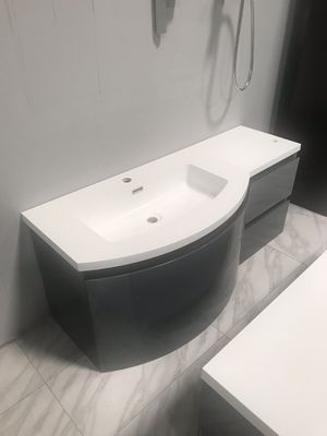 "48"" Single Sink Bathroom Vanity Wall Mount Cabinet in High Gloss Left Side Sink for Sale in Fairfax, VA"