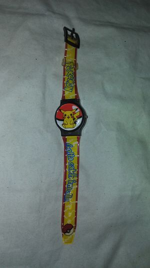 Vintage and very hard to get this style Pokemon Pikachu flip top Watch for Sale in East Los Angeles, CA
