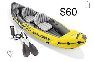 New in box 2person kayak inflatable Intex explorer K2 for Sale in Seattle, WA