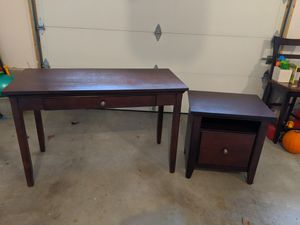 Desk & Printer Stand/Filing Cabinet for Sale in North Attleborough, MA