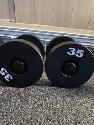 Commercial grade 35lb dumbbells/weights for Sale in Tampa, FL