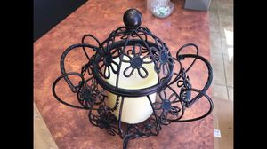 Decorative Iron Candle Holder with Large Ivory 3 Wick Candle for Home and Garden Patio Decor for Sale in Las Vegas, NV