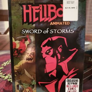 Hellboy Animated Movie Sword Of Storms With Comic for Sale in Wildwood, MO