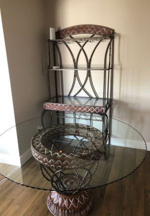 Glass round table and wine rack for Sale in Tempe, AZ