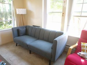 Mid century modern plush tufted linen fabric for Sale in Fremont, CA