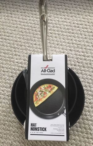 "Brand new All clad PFOA free HA1 nonstick 8"" & 10"" fry pans set for Sale in Lewis Center, OH"