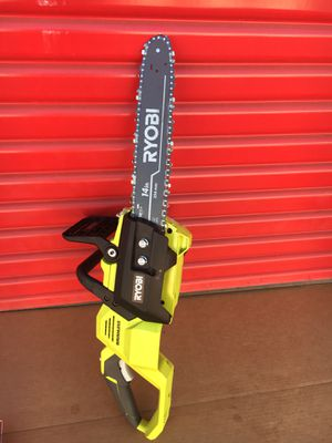 Ryobi 14 in. 40-Volt Baretool Brushless Lithium-Ion Cordless Chainsaw((tool only)) for Sale in Redlands, CA