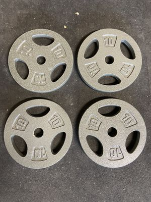 Cast iron standard weight plates brand new. for Sale in Elk Grove, CA
