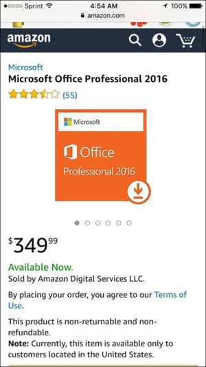 Microsoft Office Professional 2016 Product Key for Sale in Wylie, TX