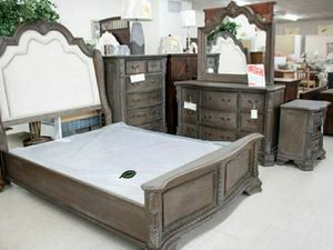 🍻🍾 $39 Down Payment 🕊 Sheffield Antique Gray Panel Bedroom Set 43 for Sale in Columbia, MD