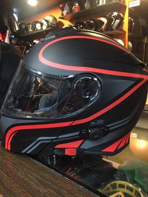 New red Bluetooth dot motorcycle helmet $200 for Sale in Santa Fe Springs, CA