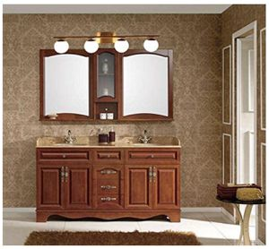 YHTlaeh New Bathroom Vanity Light Fixtures 4 Lights Brushed Brass Glass Shade Modern Wall Bar Sconce Over Mirror for Sale in Downey, CA