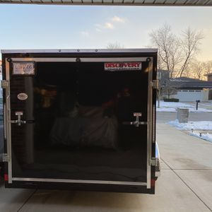 7X14 Enclosed Trailer Great Brand New Trailer for Sale in Orland Hills, IL