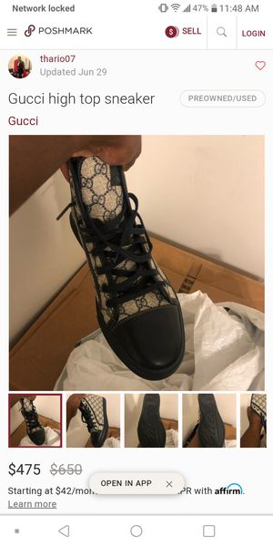 Gucci shoes hi-tops supreme for Sale in Charlotte, NC