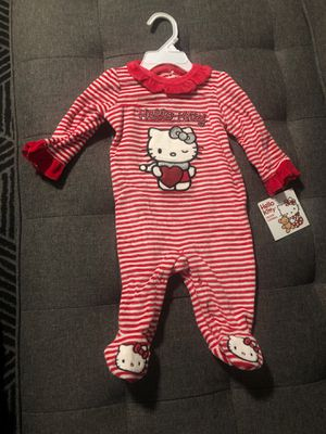 Hello kitty velour coverall size 3-6 months for Sale in National Park, NJ