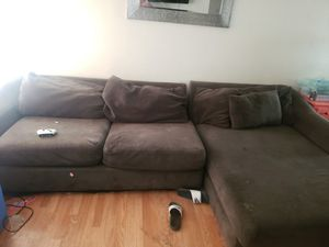 Free sectional and dining table with chairs for Sale in Apple Valley, CA