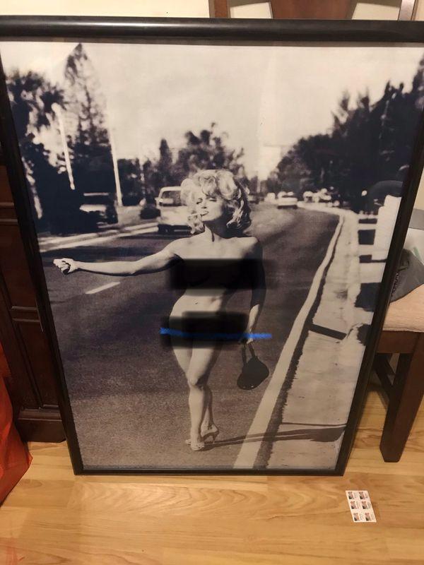 Madonna hitchhiking poster